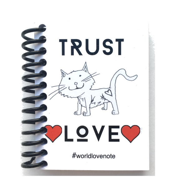 "Cat ""Love"" Notes Notebooks - Finnigan Note - 1"