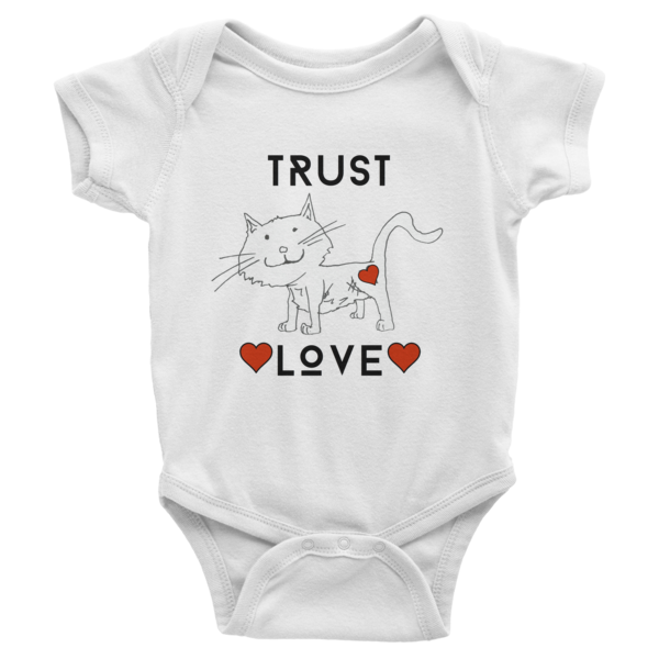 Trust Love Cat one-piece - Finnigan Note - 1