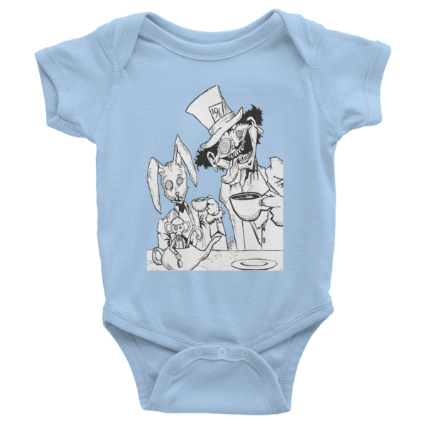 Tea Party Infant Short Sleeve One-Piece - Finnigan Note - 6