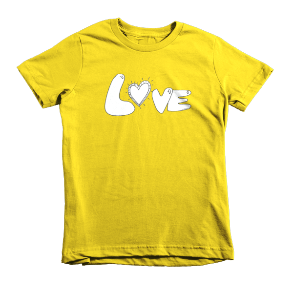 Trust LOVE Short sleeve kids t-shirt - Finnigan Note - 5