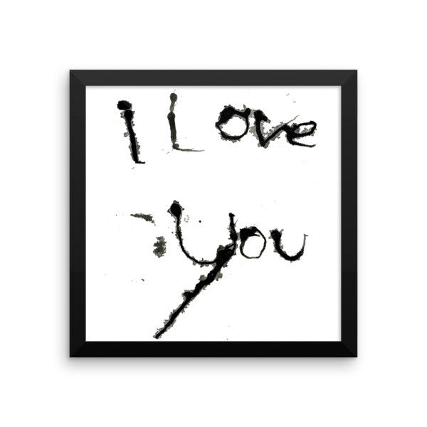 I Love You - Framed Poster - Finnigan Note - 4