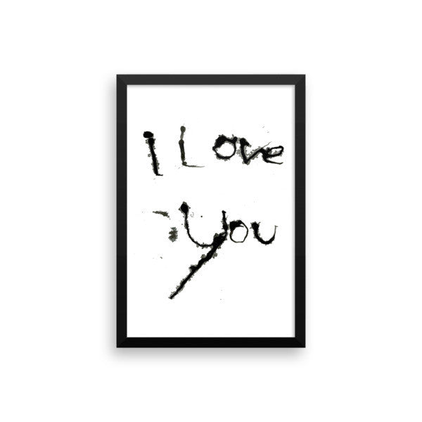 I Love You - Framed Poster - Finnigan Note - 8