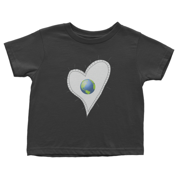 Trust Love Earth Heart Infant short sleeve t-shirt - Finnigan Note - 2