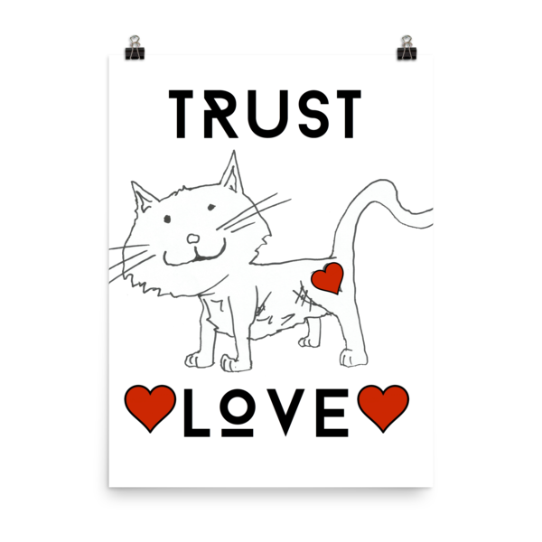 Trust Love Cat Poster - Finnigan Note - 9