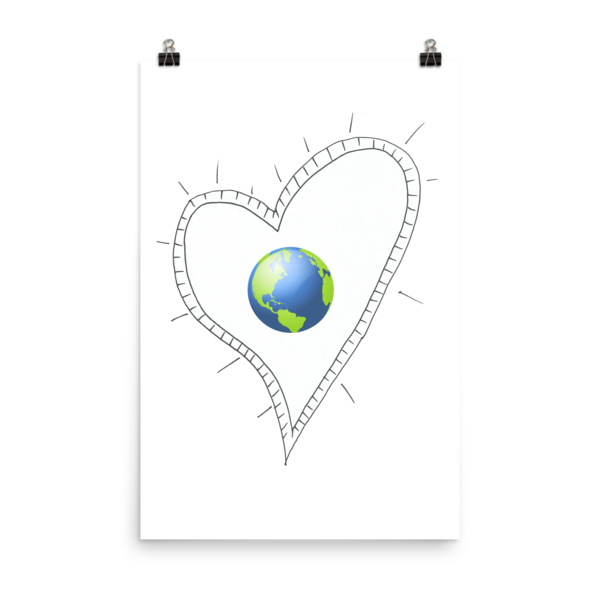 Trust Love Earth Heart Poster - Finnigan Note - 11