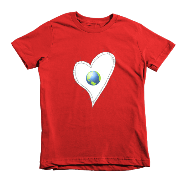 Trust Love  Earth Heart kids t-shirt - Finnigan Note - 10