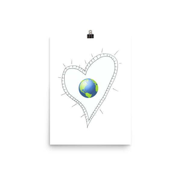 Trust Love Earth Heart Poster - Finnigan Note - 8