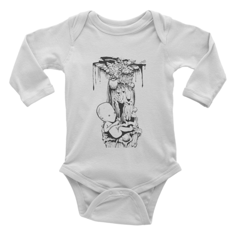 Birth Infant Long Sleeve One-piece - Finnigan Note - 1
