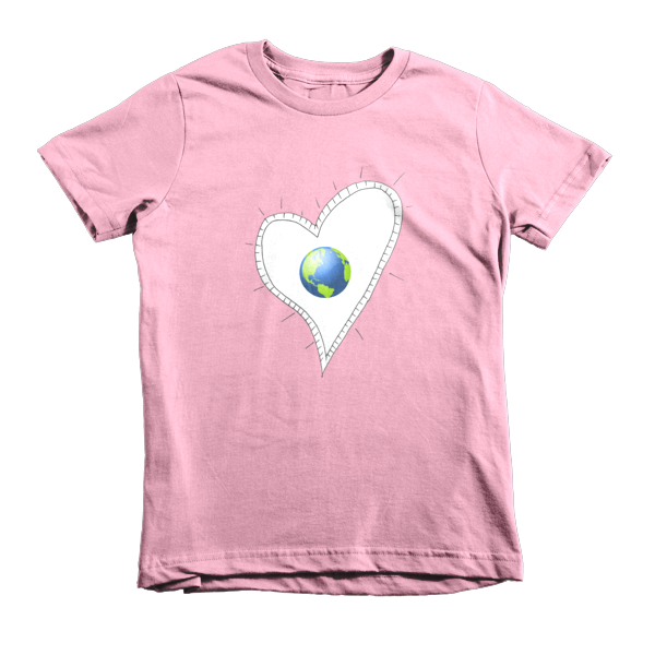 Trust Love  Earth Heart kids t-shirt - Finnigan Note - 9
