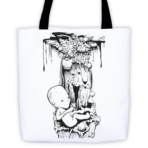 Birth by Roger Plymale Tote bag - Finnigan Note