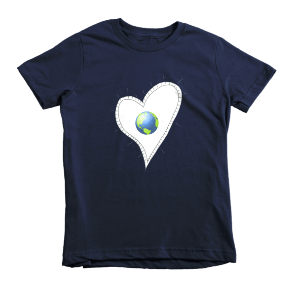 Trust Love  Earth Heart kids t-shirt - Finnigan Note - 4