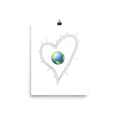 Trust Love Earth Heart Poster - Finnigan Note - 1