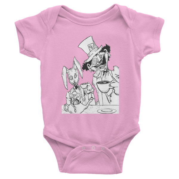 Tea Party Infant Short Sleeve One-Piece - Finnigan Note - 8