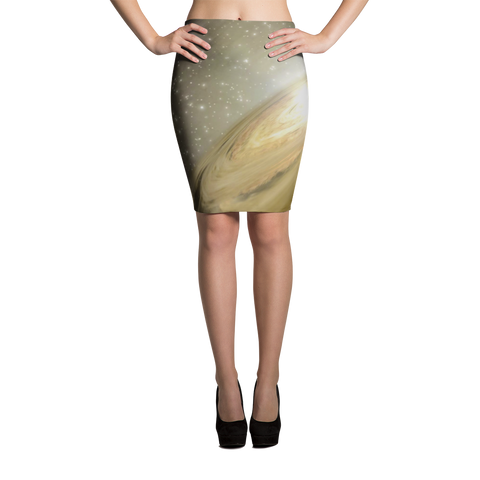 Golden Galaxy Pencil Skirts - Finnigan Note - 1