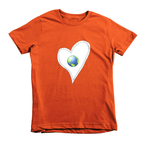 Trust Love  Earth Heart kids t-shirt - Finnigan Note - 8