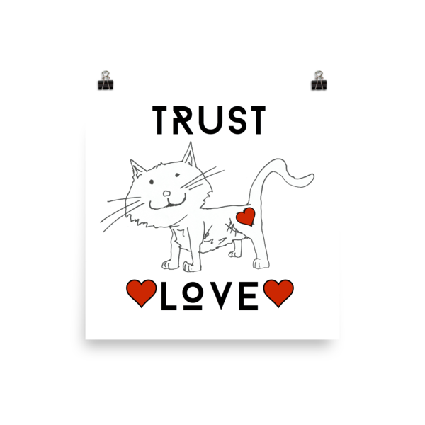 Trust Love Cat Poster - Finnigan Note - 3
