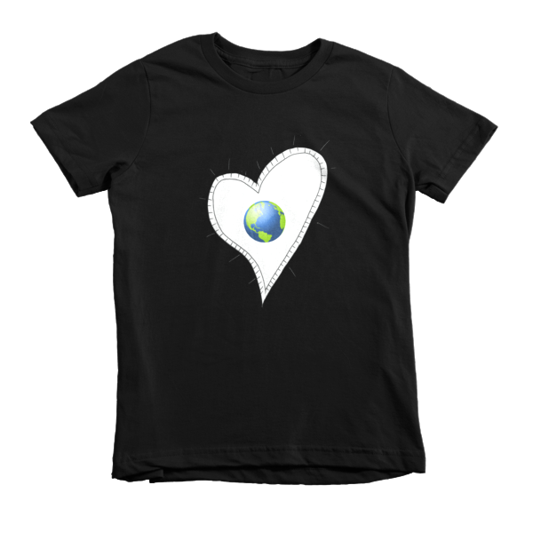 Trust Love  Earth Heart kids t-shirt - Finnigan Note - 3