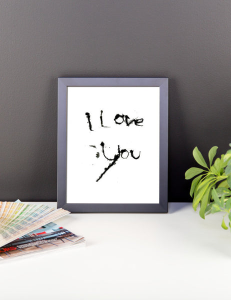 I Love You - Framed Poster - Finnigan Note - 2