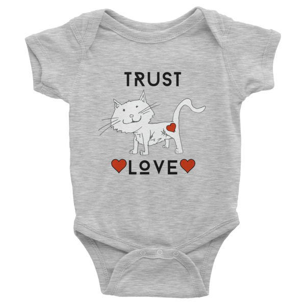 Trust Love Cat one-piece - Finnigan Note - 2