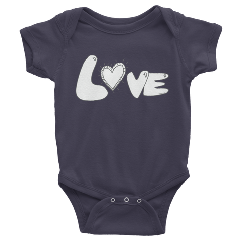Trust LOVE Infant short sleeve one-piece - Finnigan Note - 1