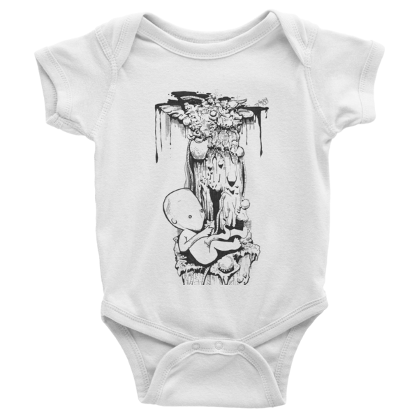 Birth Infant short sleeve one-piece - Finnigan Note - 2