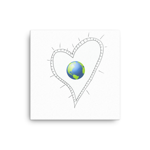 Trust Love Earth Heart on Canvas - Finnigan Note - 1
