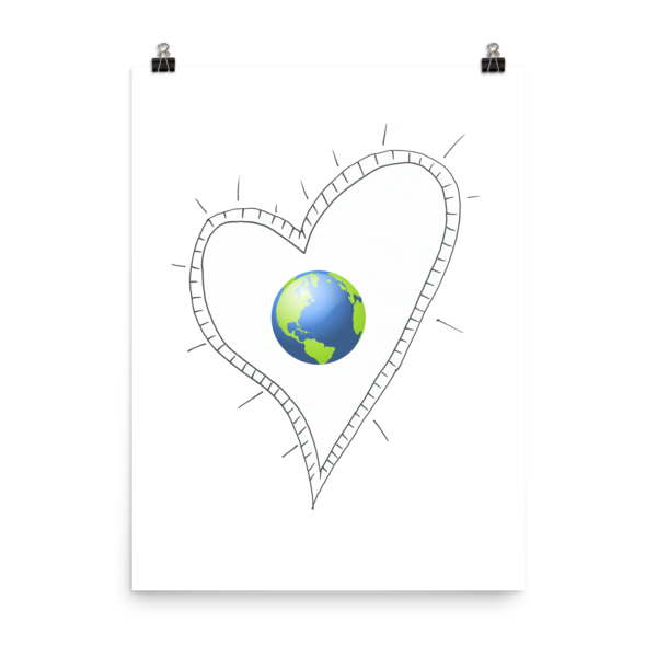 Trust Love Earth Heart Poster - Finnigan Note - 9