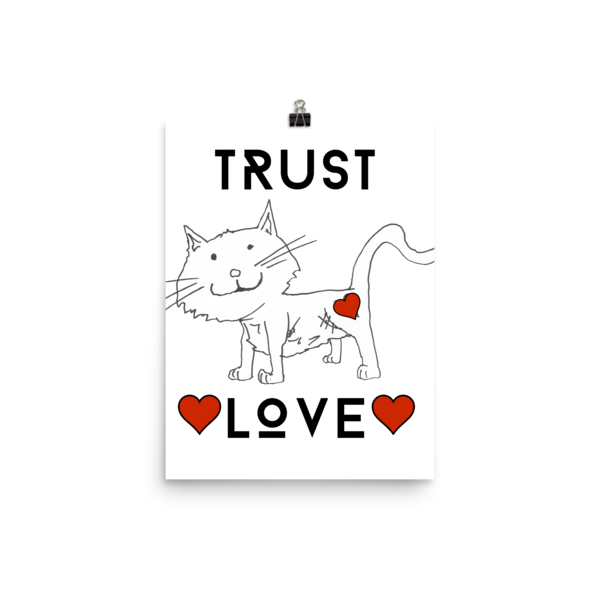 Trust Love Cat Poster - Finnigan Note - 8