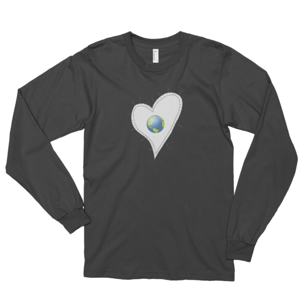 Trust Love Earth Heart Long sleeve t-shirt (unisex) - Finnigan Note - 2