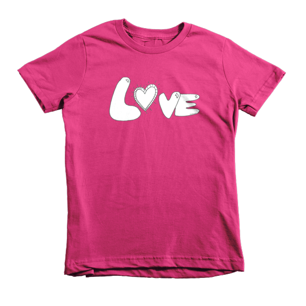 Trust LOVE Short sleeve kids t-shirt - Finnigan Note - 1