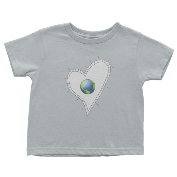 Trust Love Earth Heart Infant short sleeve t-shirt - Finnigan Note - 3