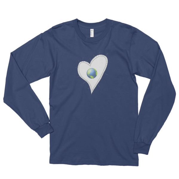 Trust Love Earth Heart Long sleeve t-shirt (unisex) - Finnigan Note - 3