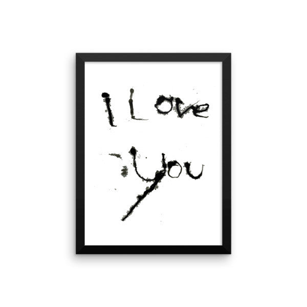 I Love You - Framed Poster - Finnigan Note - 7