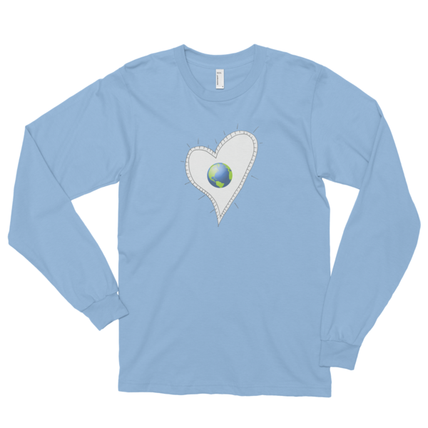 Trust Love Earth Heart Long sleeve t-shirt (unisex) - Finnigan Note - 4