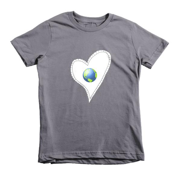 Trust Love  Earth Heart kids t-shirt - Finnigan Note - 5