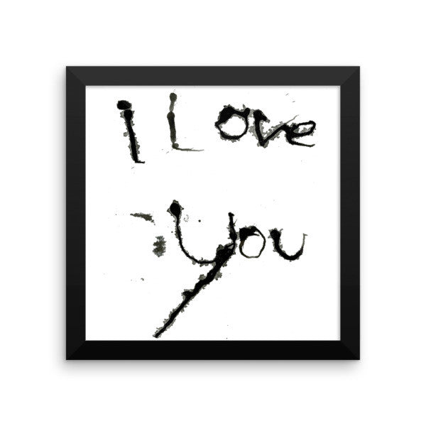 I Love You - Framed Poster - Finnigan Note - 3