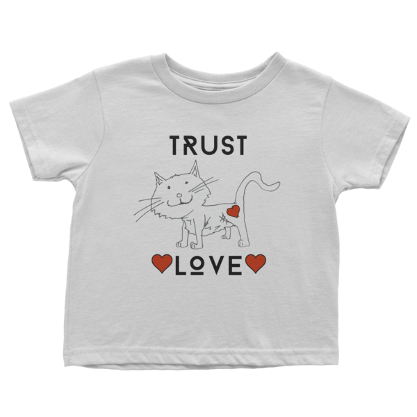 Trust Love Cat sleeve t-shirt - Finnigan Note - 1