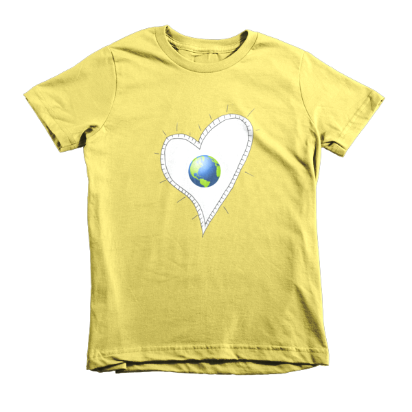 Trust Love  Earth Heart kids t-shirt - Finnigan Note - 7