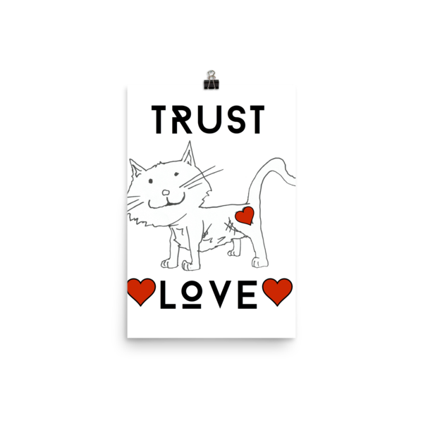 Trust Love Cat Poster - Finnigan Note - 10