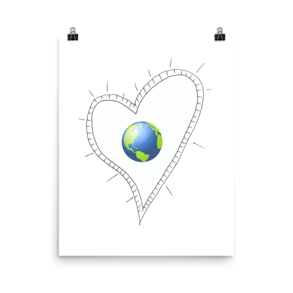 Trust Love Earth Heart Poster - Finnigan Note - 2