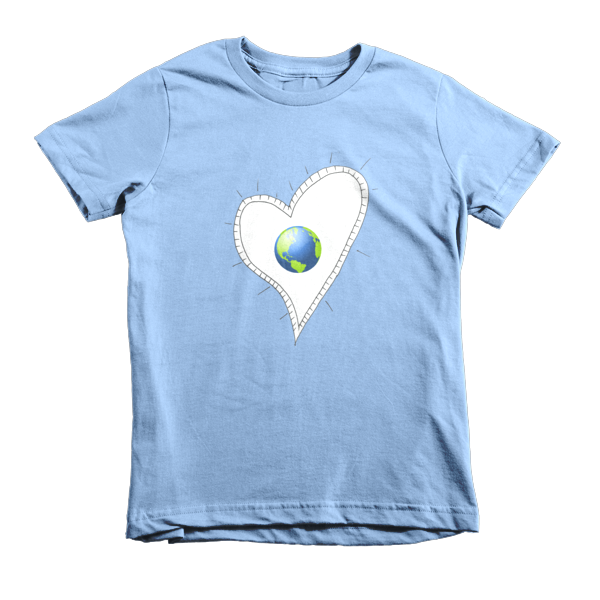 Trust Love  Earth Heart kids t-shirt - Finnigan Note - 6