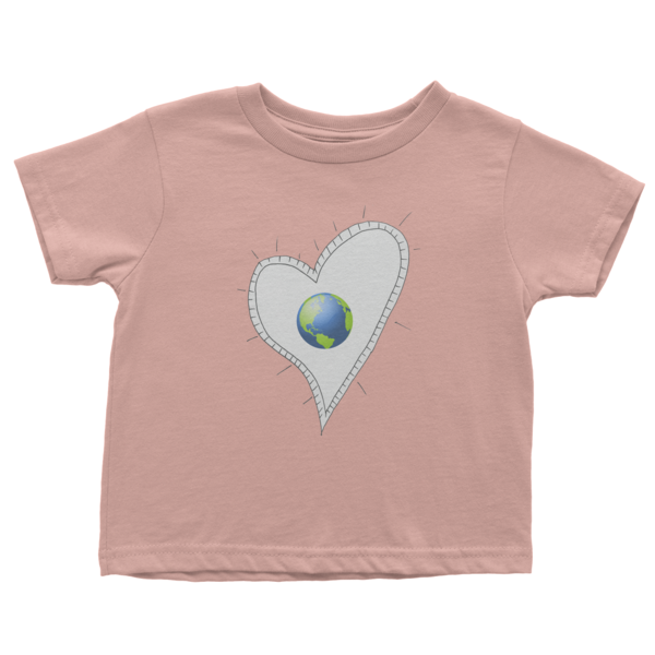 Trust Love Earth Heart Infant short sleeve t-shirt - Finnigan Note - 4