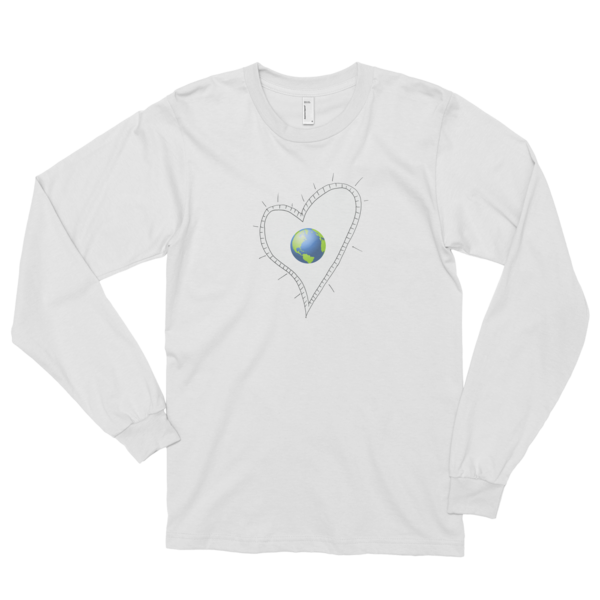 Trust Love Earth Heart Long sleeve t-shirt (unisex) - Finnigan Note - 1