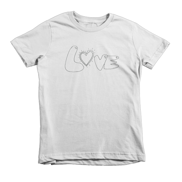 Trust LOVE Short sleeve kids t-shirt - Finnigan Note - 2