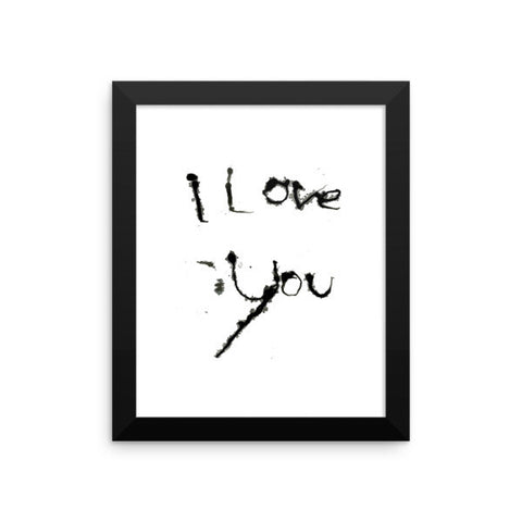 I Love You - Framed Poster - Finnigan Note