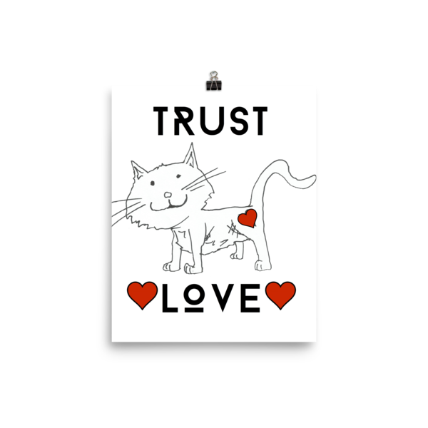 Trust Love Cat Poster - Finnigan Note - 1