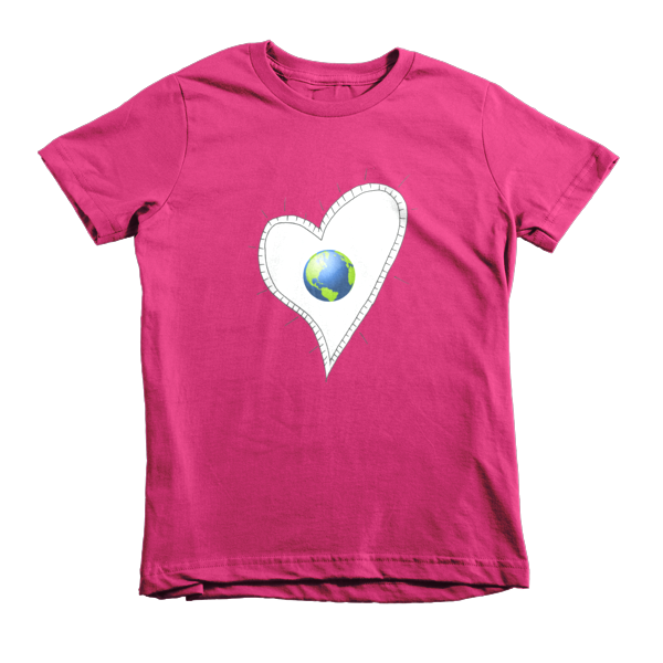 Trust Love  Earth Heart kids t-shirt - Finnigan Note - 1