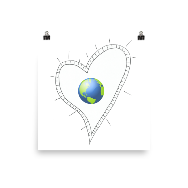 Trust Love Earth Heart Poster - Finnigan Note - 3