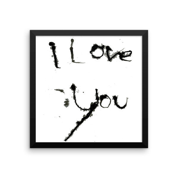 I Love You - Framed Poster - Finnigan Note - 5
