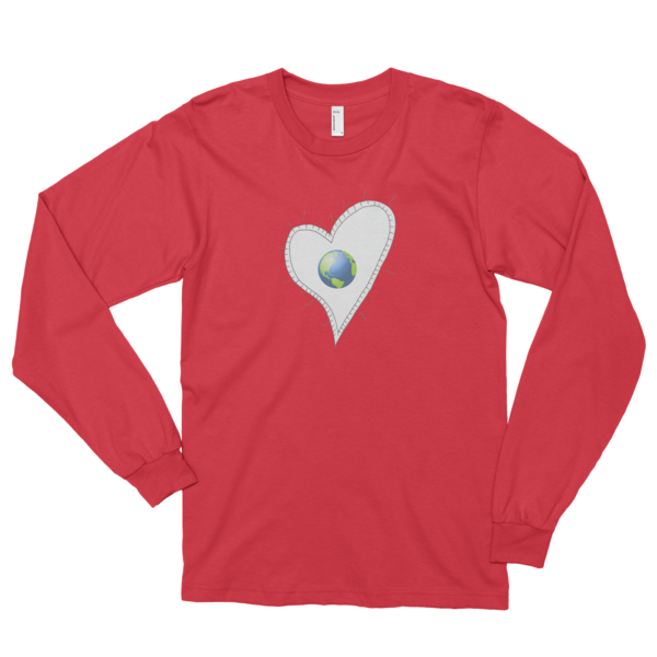 Trust Love Earth Heart Long sleeve t-shirt (unisex) - Finnigan Note - 5